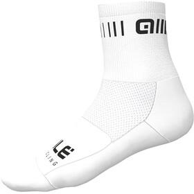 Alé Cycling Strada Sokken 12cm, white/black